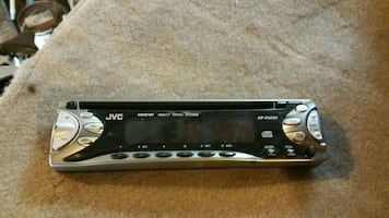 silver and black jvc car led stereo