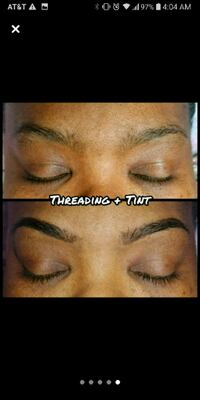 Eyebrow Threading + Tinting