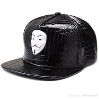 Hip hop hat ajustable PU leather Montréal, H4L 5B5