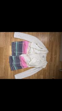 white, pink and black  jacket