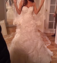 Gorgeous custom made wedding dress! Lace imported from Europe!