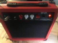 Portable Tone guitar  amplifier/red