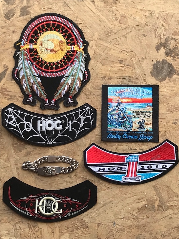 d11c7a88 Used Harley patches and ladies solid silver Harley bracelet for sale in  Saluda - letgo