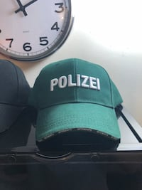Green polizei fitted cap Los Angeles, 90065