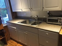 Kitchen cabinets with countetop, sink & faucet/soap 06880