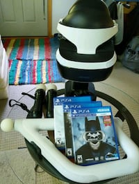 PSVR, stand, cords, camera, controllers, and games Ankeny, 50021