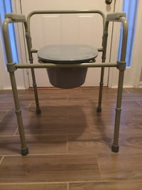 Steel bedside commode. Like new