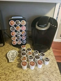 Keurig with 30ct holder and 40 kcups Clayton, 27520