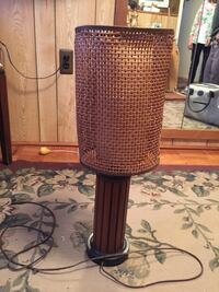 Black and brown table lamp.