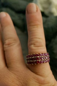 silver and pink gemstone ring Vincennes, 47591