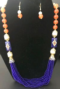 UVA necklace and earrings set.  Go Hoos! Ashburn, 20147