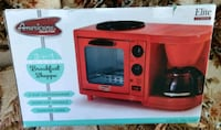 Americana 3 in 1 coffee maker toaster oven griddle new in box