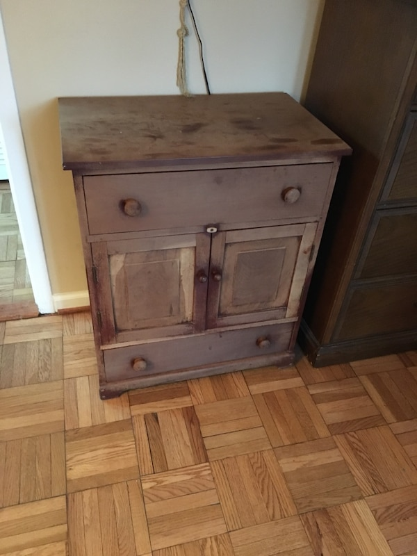 Completely Hand crafted wooded nightstand Needs a new home