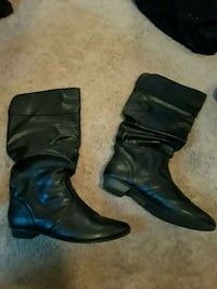black leather boots Merced, 95348