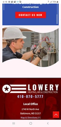 Heating system installation Baltimore