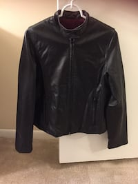 black leather zip-up jacket Baltimore, 21236