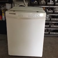 white and black Frigidaire dishwasher Ramara, L0K