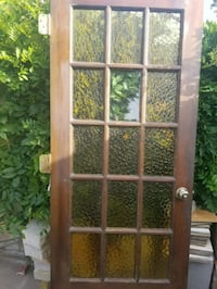 brown wooden framed glass door Fort Worth, 76182