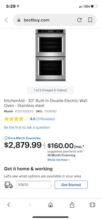 KitchenAid 30 inch Double Oven - this weekend only!  $500