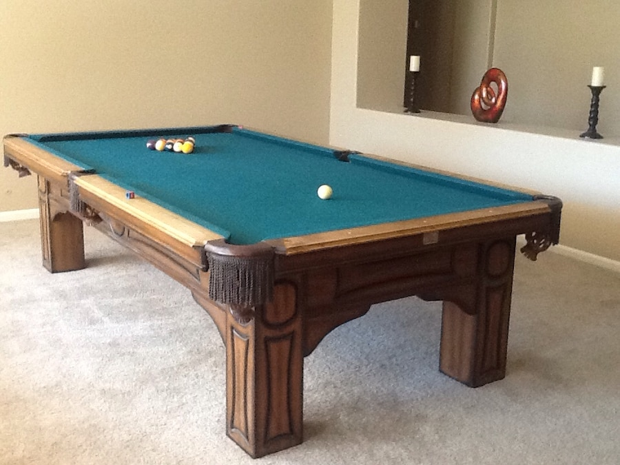 9 Foot Petter Vitale Pool Table. Purchased Price $$4,600.00 Asking 750.00  Includes Ball,
