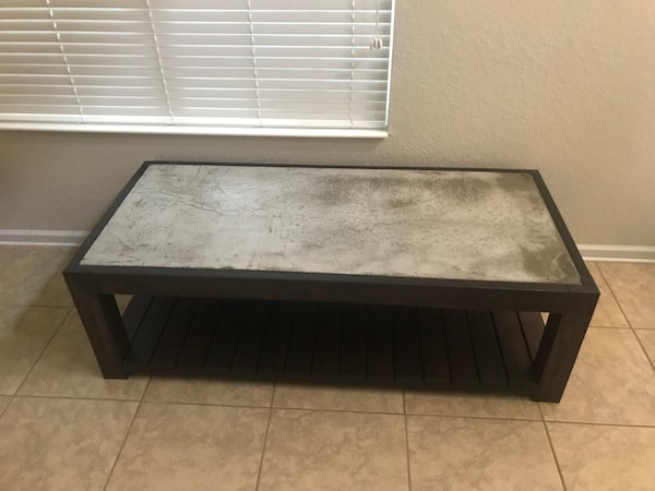 Peachy Custom Built Coffee Table With Stained Concrete Inlay Spiritservingveterans Wood Chair Design Ideas Spiritservingveteransorg