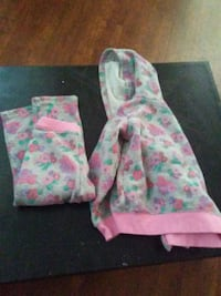two pink and green floral pants Anderson, 96007