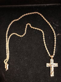 gold-colored chain necklace with cross pendant Woodbridge, 22192