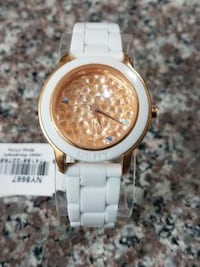 DKNY 3- Hand Pave Crystal Dial Watch. Long Beach