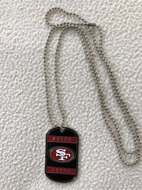 San Francisco 49ers Dog tag necklace New Orleans, 70121