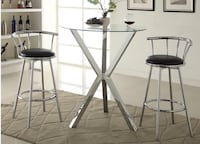 NEW Contemporary Bar Table And 2 Chairs  Miami