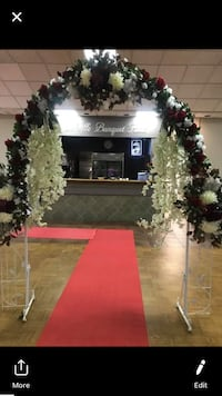 Arch with flower for wedding rental Oakville, L6L