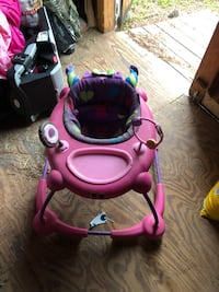 pink and purple activity walker