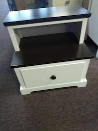 white and black wooden 2-drawer nightstand North Las Vegas, 89032