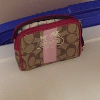 brown and red Coach wristlet SF, 94123