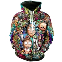 Rick and Morty 3D Printed Hoodie Kallithea, 176 72