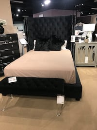 black tufted bed with mattress Dallas, 75248