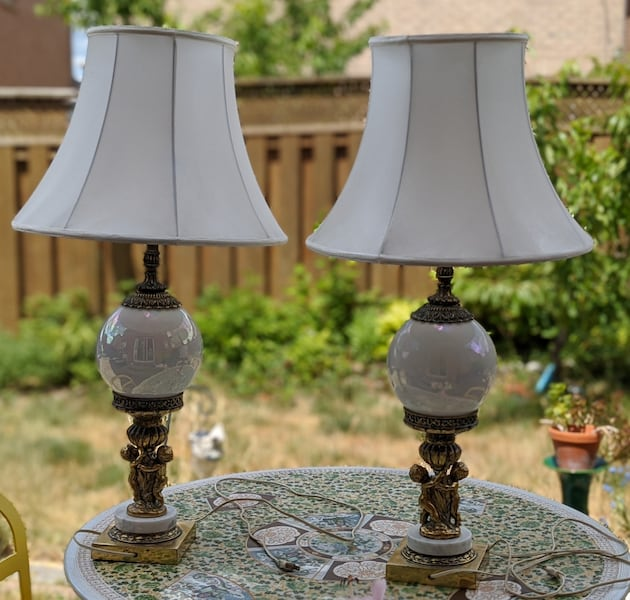 Gorgeous, vintage, Marble and brass table lamps a477d9c5-1249-4617-b2fa-8ed7fc96f892