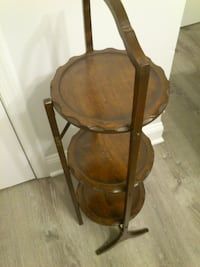 Wooden Folding Pie/Cake/Plant Stand West Springfield