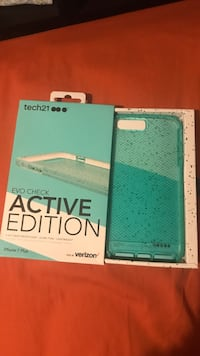 White and green tech 21 iPhone case 26 mi
