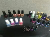 New and used nail polishes