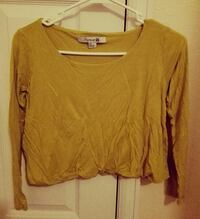 Yellow Crop Top size S Cheyenne, 82007