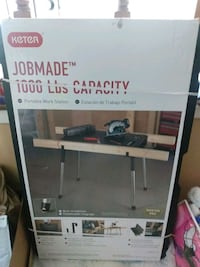 Keter jobmade 1000 lbs capacity portable workstation it's new  Baltimore, 21212