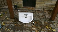Magickwoods porcelain sink with faucet Toronto, M1V 5A4