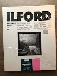 Ilford 8x10in Photographic Paper.