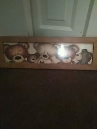 five brown bears painting with brown wooden frame Warren, 44483