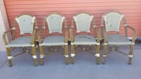 four brown-and-gray wicker framed armchairs Huntington Beach, 92647