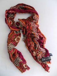 INC International Concepts Women's Shawl Scarf Throw Spiced Red Chesapeake
