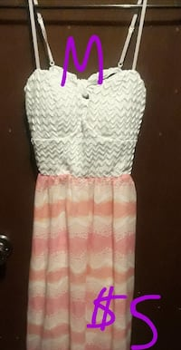 white and pink floral sleeveless dress Carrollton, 75007