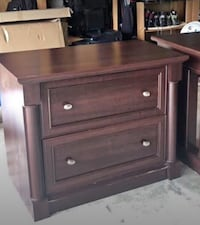 File cabinet cherry wood veneer lateral 2 drawer office furniture Alexandria, 22312