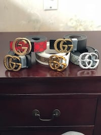 three assorted color leather belts Dollard-Des Ormeaux, H9B 3J7